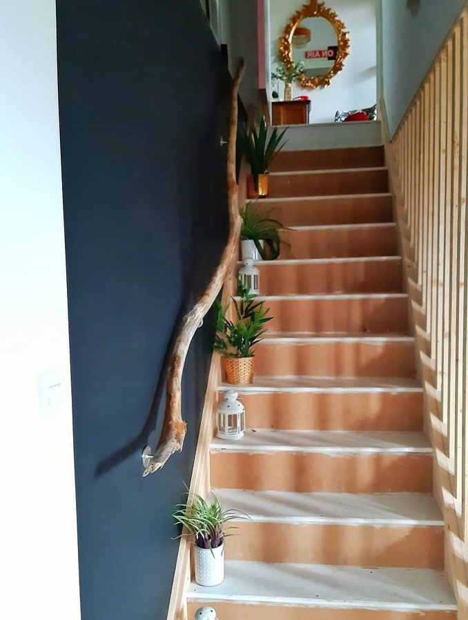 Recycled timber banister