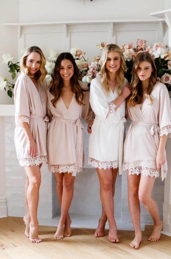 Matching wedding robes