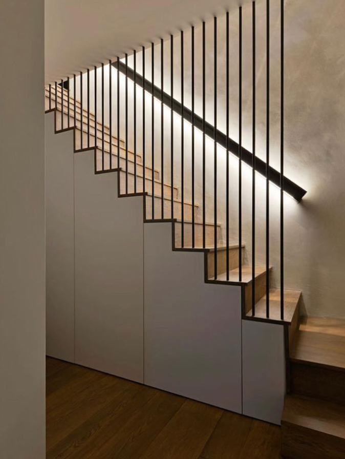 Modern staircase and banister