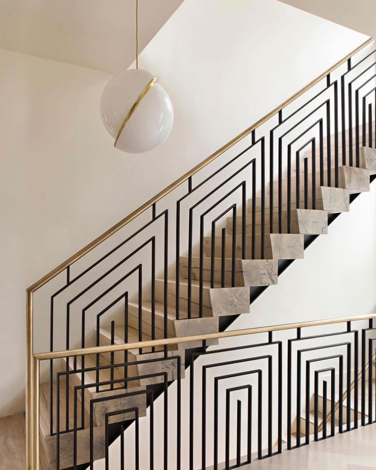 Art deco banister and staircase