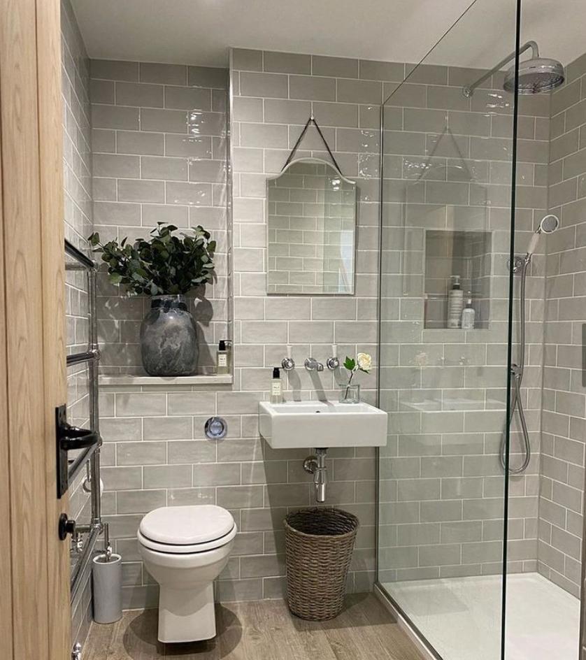 grey shower room