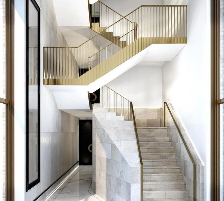 Gold banister ideas
