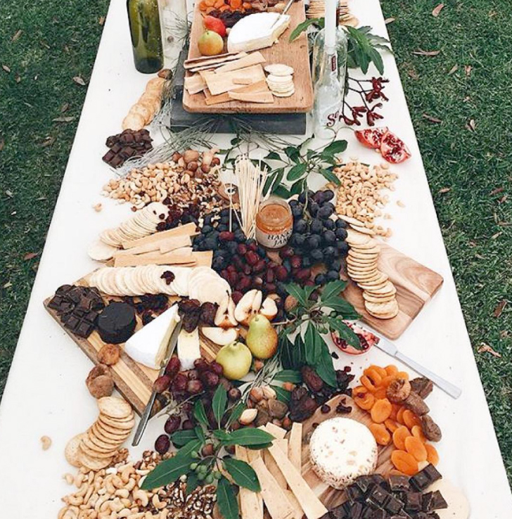 grazing board with cheese