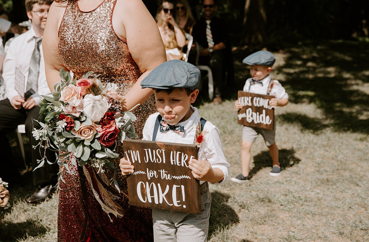 Signs for ring bearers and flower girls