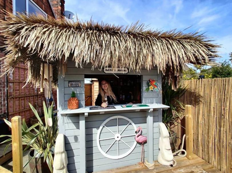 custom built garden bar