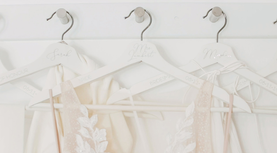 Personalised wedding clothes hangers