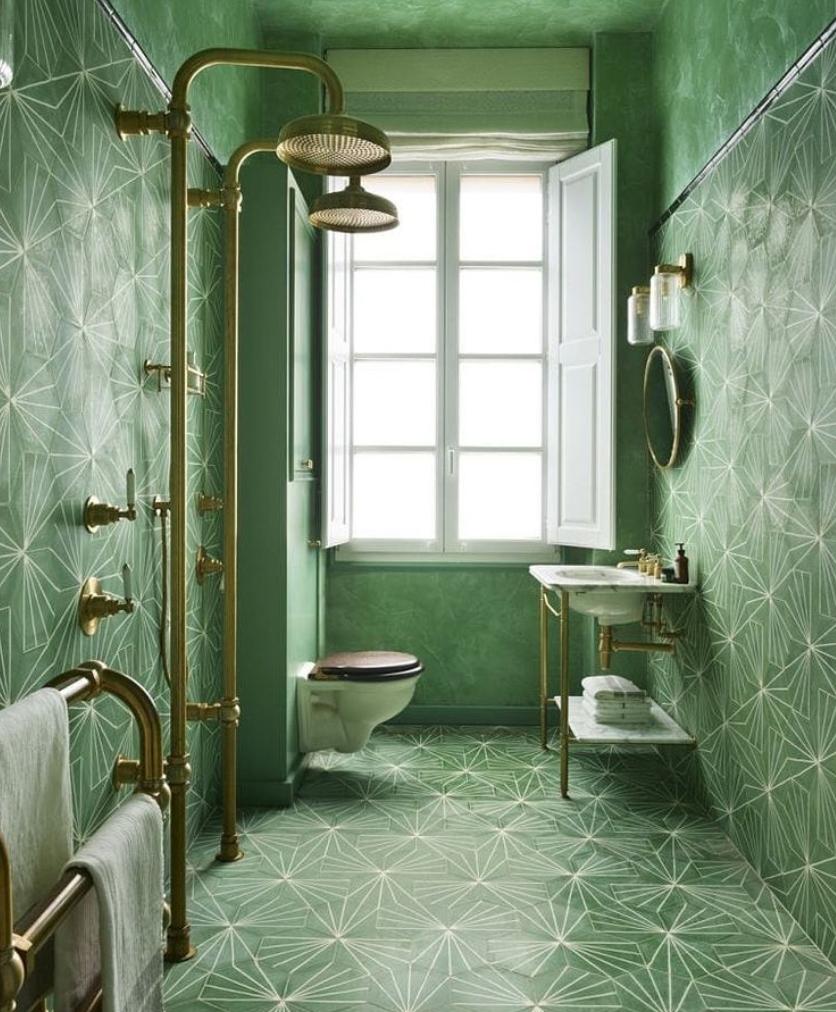 green bathoom ideas