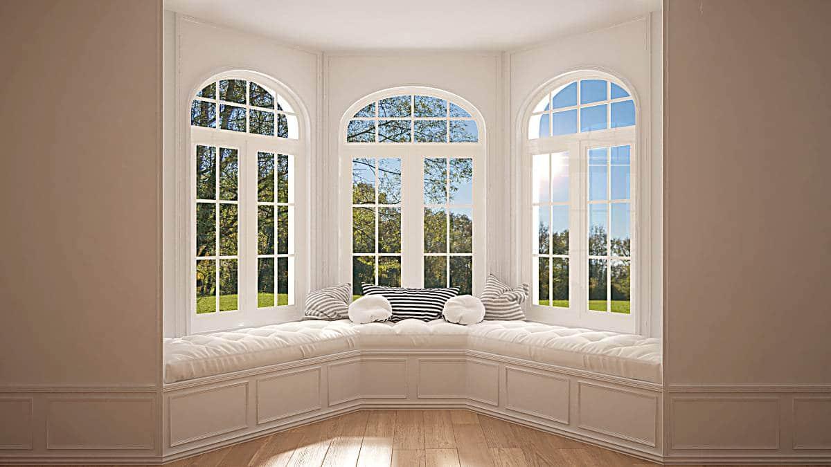 big window overlooking garden