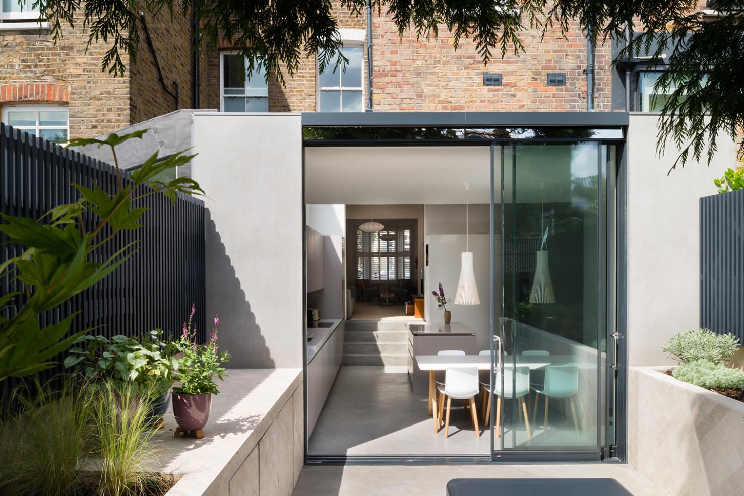 concrete kitchen diner