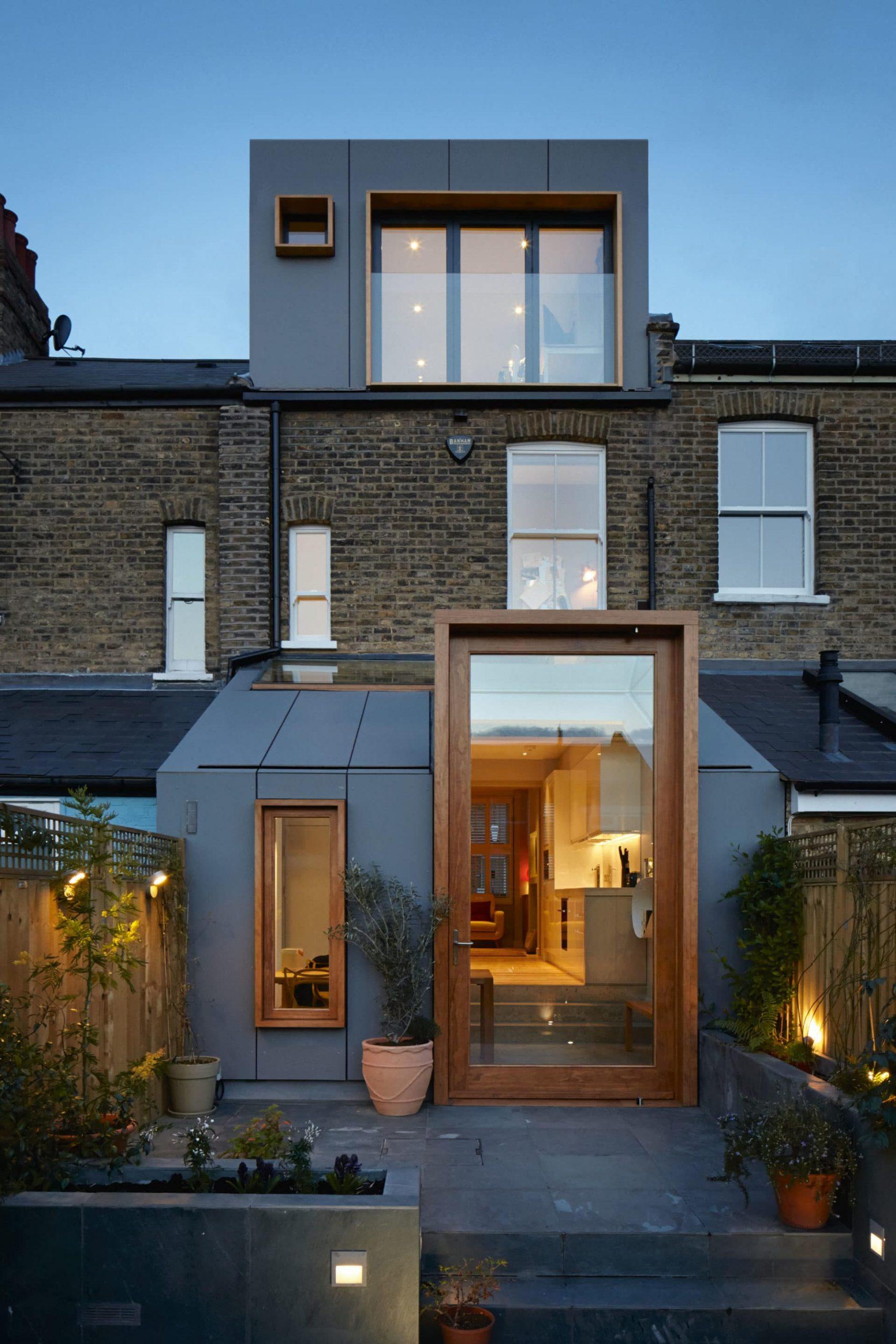 contemporary kitchen extension exterior