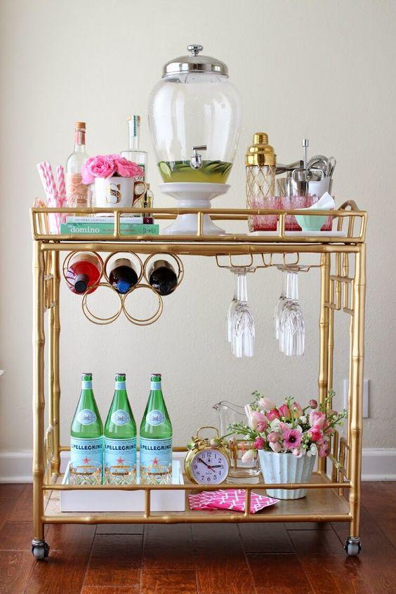 feminine bar cart