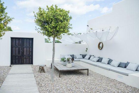 Ibiza flavoured gravel garden
