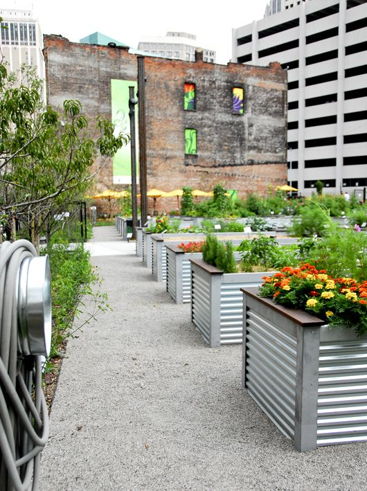 neat steel planters