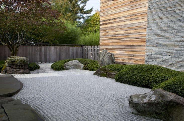 ocean garden with gravel