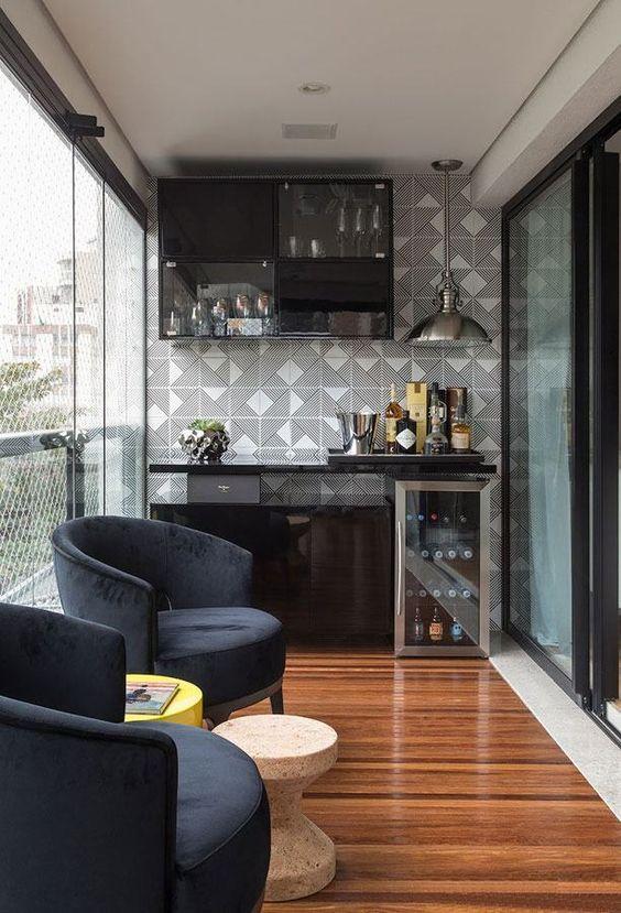 sunroom home bar