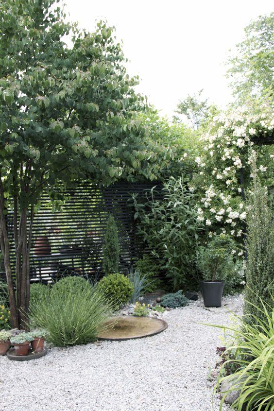 white gravel garden