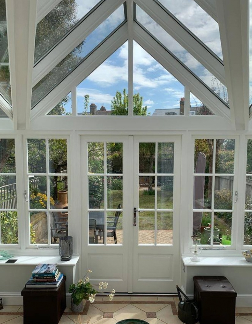 Pitched roof sunroom