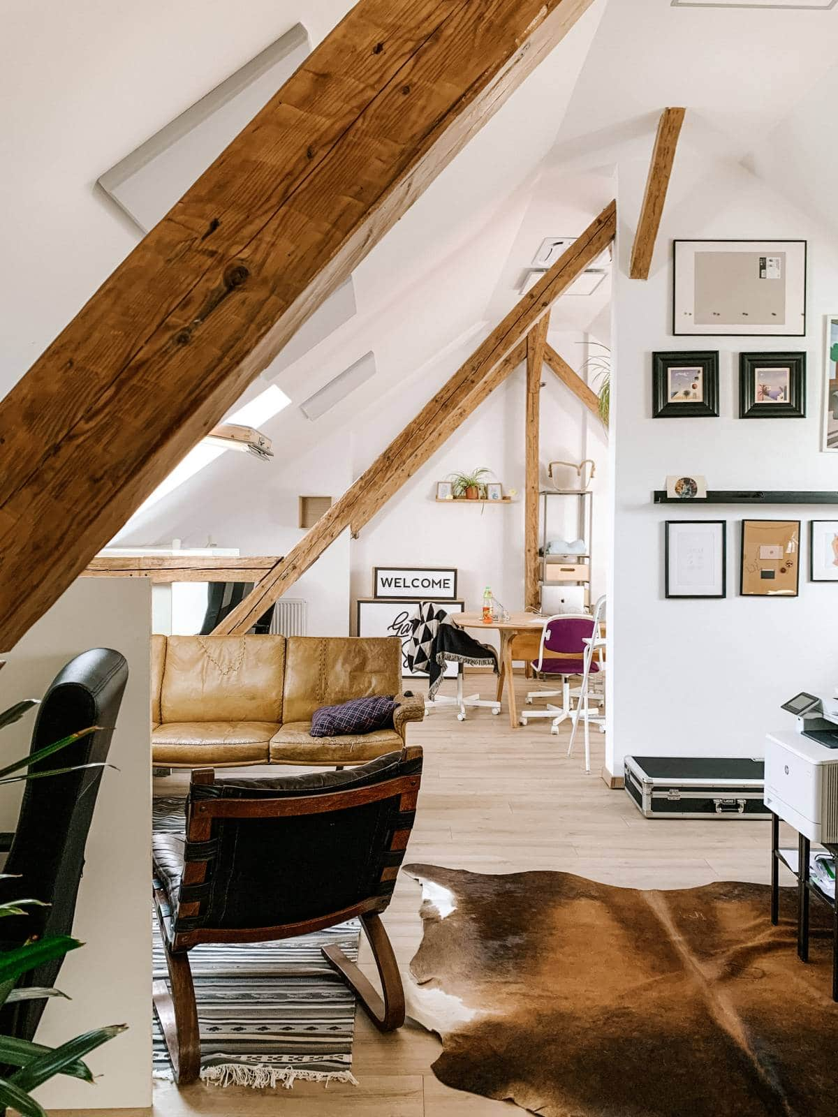 bright loft home office