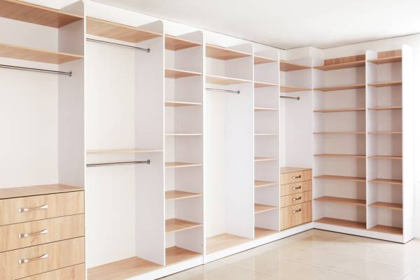 big wardrobe for clothes and shoes