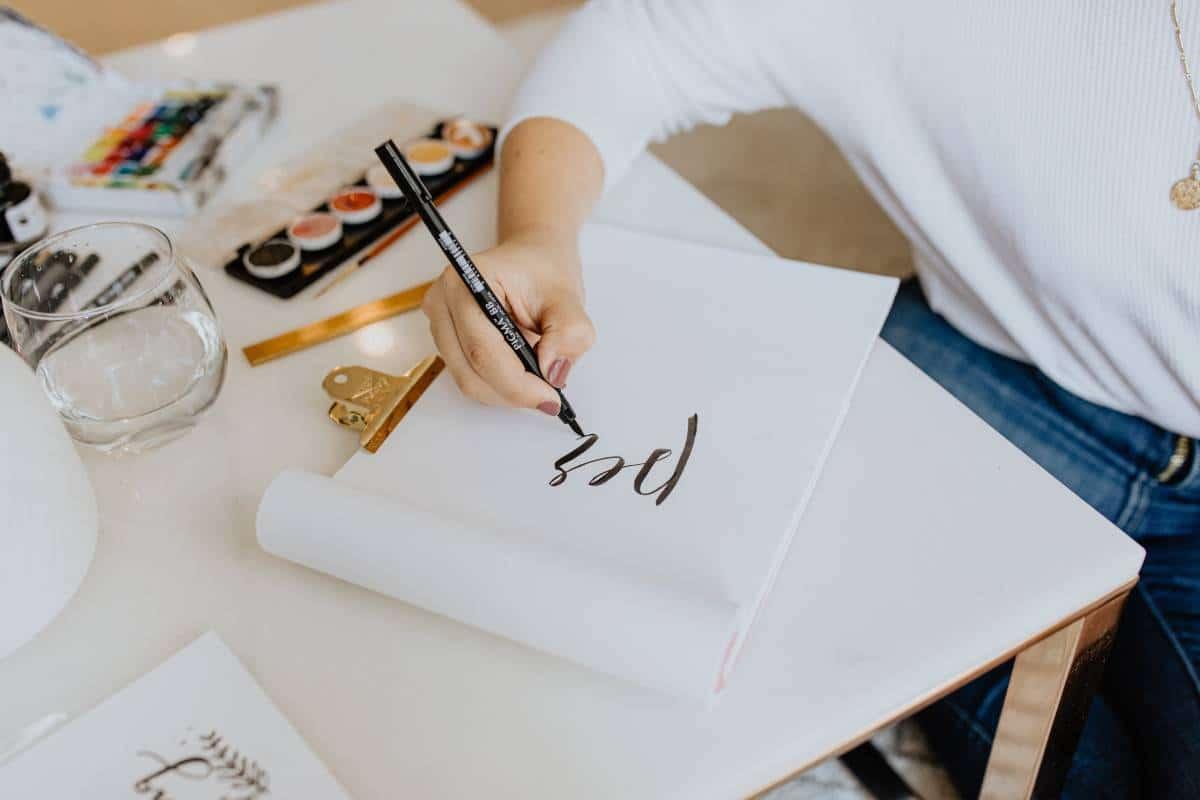 writing calligraphy