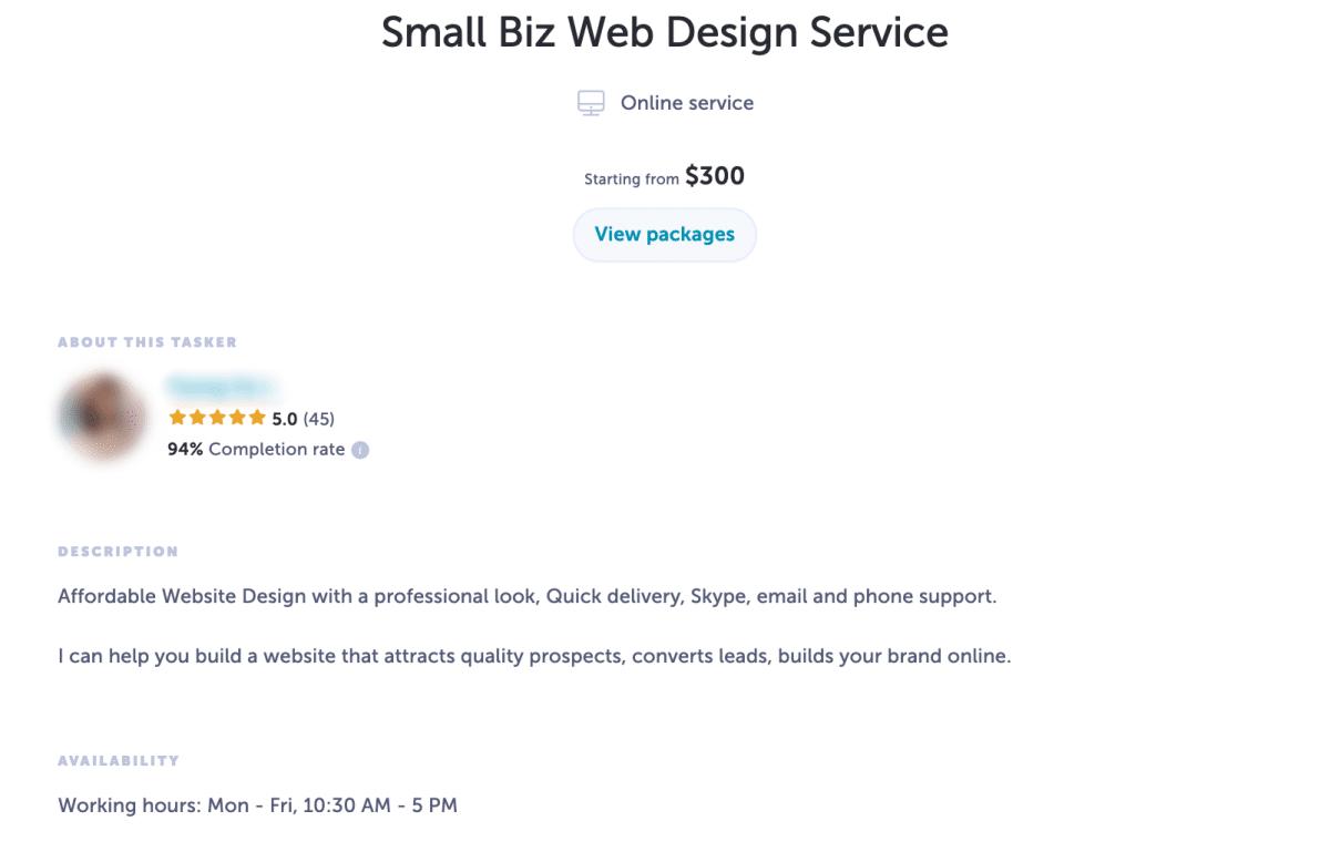 small business web design service