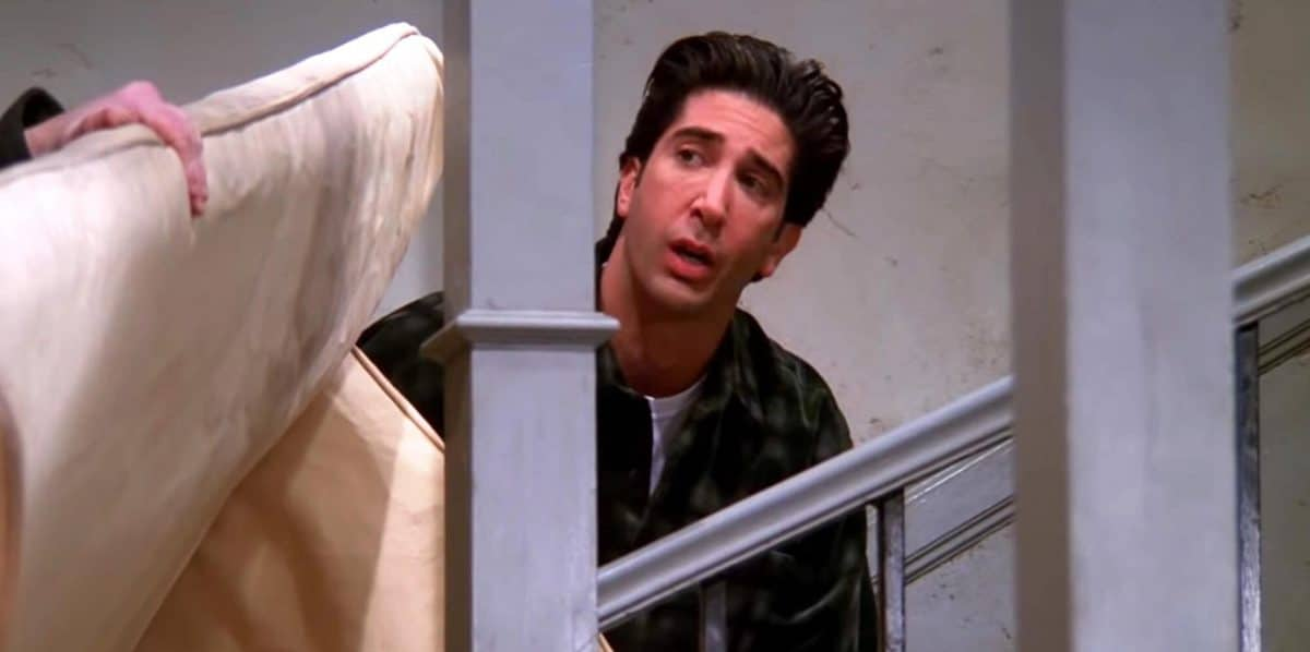 Solving the Ross pivot problem: How Ross could have moved that sofa upstairs